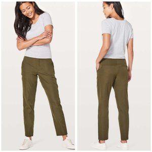 Lululemon City Trek Trouser Pants Military Green 4